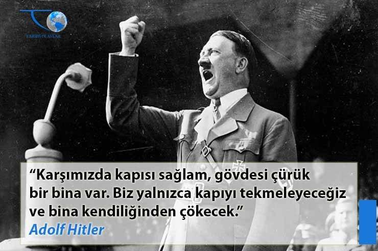 Adolf Hitlerin Psikolojinize Işleyecek 20 Sözü Tarihi Olaylar