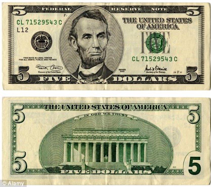 united states one dollar bill - 752×650